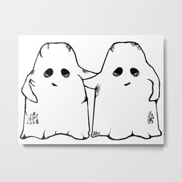 Ghost Friend Metal Print