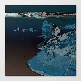 Mystic night seascape Canvas Print