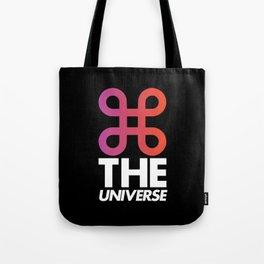 Command the universe (black) Tote Bag