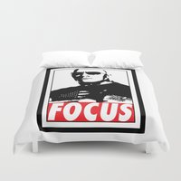 focus Duvet Covers featuring FOCUS by Main Event Merch