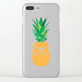 Funky Pineapple Clear iPhone Case