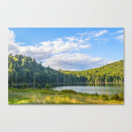 Lac in Mont-Tremblant national park in sunshine Canvas Print