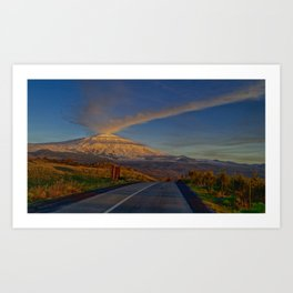 Etna sunset Art Print