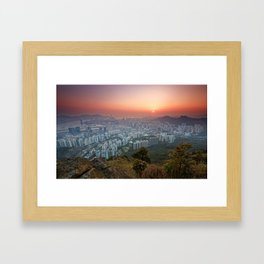 Sunrise over the City Framed Art Print