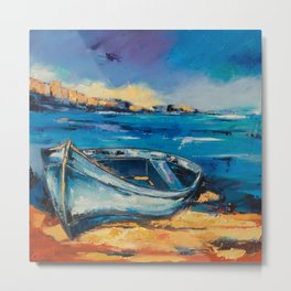 Beached Blue Metal Print