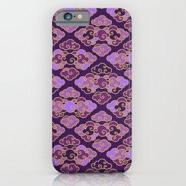 Purple Japanese Clouds iPhone Case