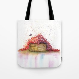 A Basket of Flowers Watercolor Tote Bag