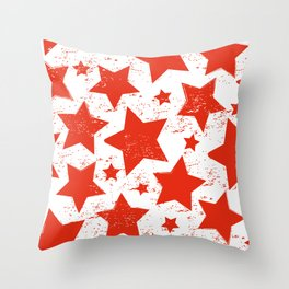 Red Stras Throw Pillow