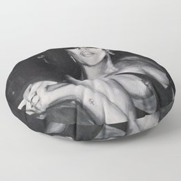 Kate Moss Painting  Floor Pillow