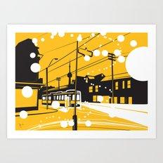 Toronto Snow! Art Print