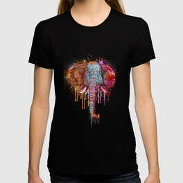 Watercolor Elephant Head T-shirt