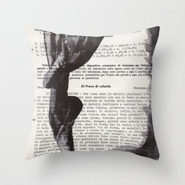 On toes - ink drawing Throw Pillow