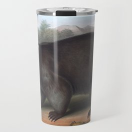 Wombat in the nature of Australia Travel Mug