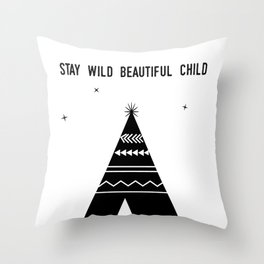 Stay Wild Beautiful Child Throw Pillow