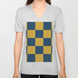 Timeless Trendy Checkerboard Leuce Unisex V-Neck