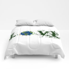 Earth Day Love Mother Earth Comforters