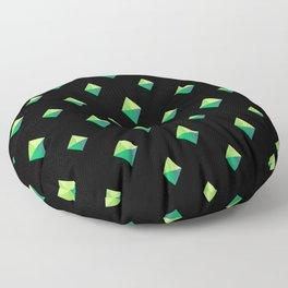 Emerald Diamonds Floor Pillow