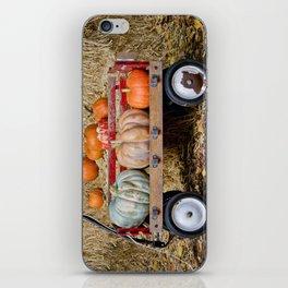 Wagon with Pumpkins iPhone Skin