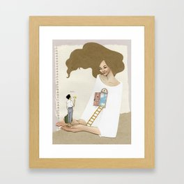 welcome in Framed Art Print