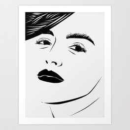 Disarray Pure Black and White Art Print