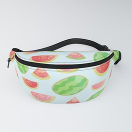 Juicy Watermelon Pattern with Gold Fanny Pack