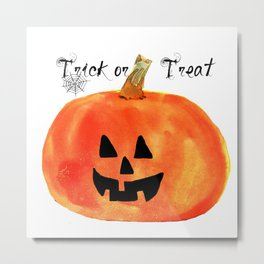 Trick or Treat Jack-O-Lantern, Halloween Pumpkin Metal Print