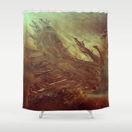 Sand Water Tree Shower Curtain