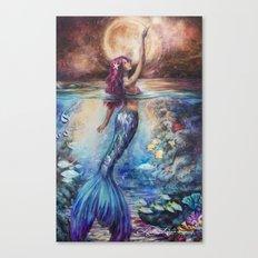 Moonlit Siren Canvas Print