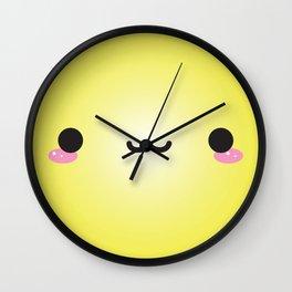 Kawaii Face (Yellow) Wall Clock