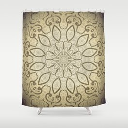 Vintage Kaleid Shower Curtain