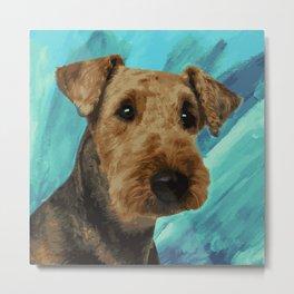 Airedale Terrier Portrait Metal Print