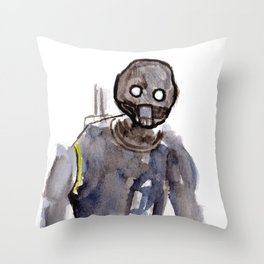 K2SO Watercolor Painting Throw Pillow