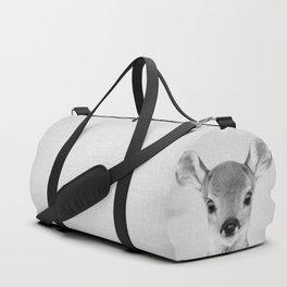 Baby Deer - Black & White Duffle Bag
