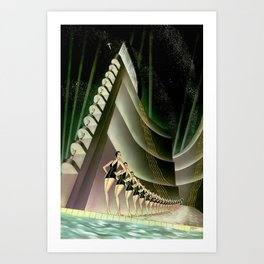 'We Came Here to Shine' - Billy Rose's Acquacade Art Deco 1920's Theatrical Portrait Art Print