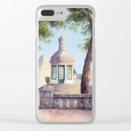Tiny old mediterranean chapel Clear iPhone Case