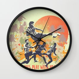 Always play with heart! Wall Clock