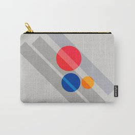 Abstract Suprematism Equilibrium Art Red Blue Yellow Carry-All Pouch