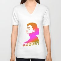 audrey V-neck T-shirts featuring Audrey by Bright Enough💡