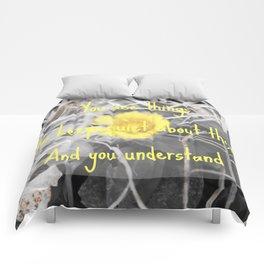 Wallflower Quote Comforters