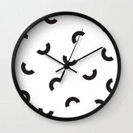 Modern Shapes Pattern Wall Clock