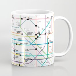 The Broadway Musical History Subway Map Coffee Mug