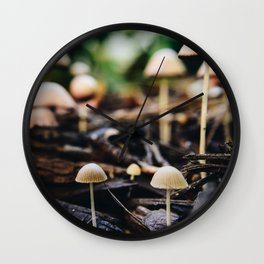 Tiny Shrooms Wall Clock