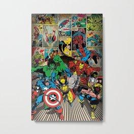 Comics Famous Metal Print