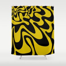 Swirly Whirly: Abstract Pop Art Painting by Bruce Gray Shower Curtain