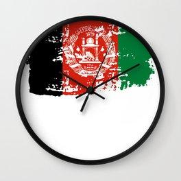 Afghanistan Kabul flag country Afghan gift Wall Clock