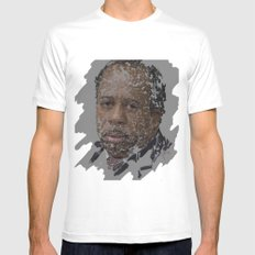 Stanley Hudson, The Office Mens Fitted Tee White LARGE