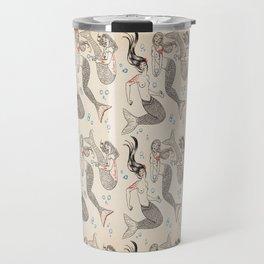 Sirens & bubbles  (print + pattern) Travel Mug
