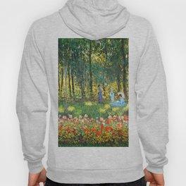 Claude Monet The Artist's Family In The Garden Hoody