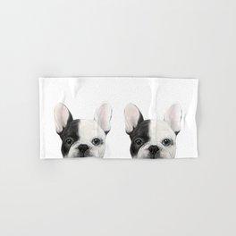 French Bulldog Dog illustration original painting print Hand & Bath Towel