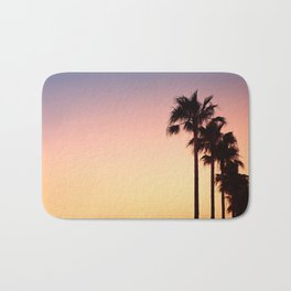 Row of Palm Trees at Sunset on Mallorca, Balearic Islands, Spain Bath Mat
